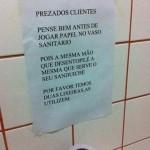 Cartaz de sanitário