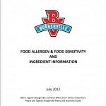 Cardápio de alergênicos e sensibilizantes