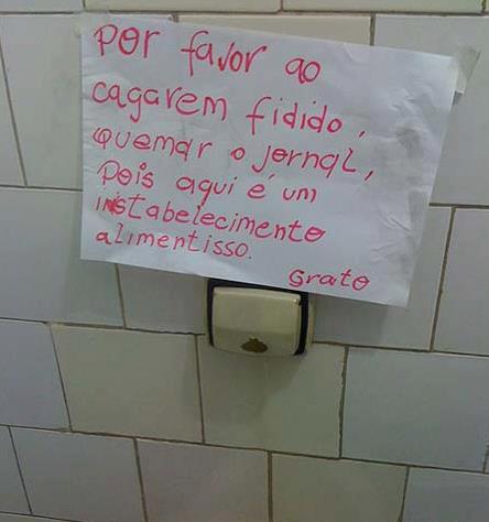 featured image Mensagem do sanitário