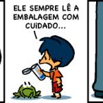 Cartunista Armandinho apoia causa Põe no Rótulo