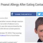 Vítimas fatais de alergia alimentar