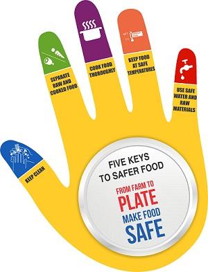 featured image Cinco chaves para uma alimentação mais segura – WHO