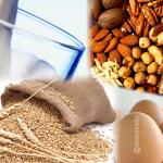 Imagem contendo alimentos tipicamente rotulados como alergênicos