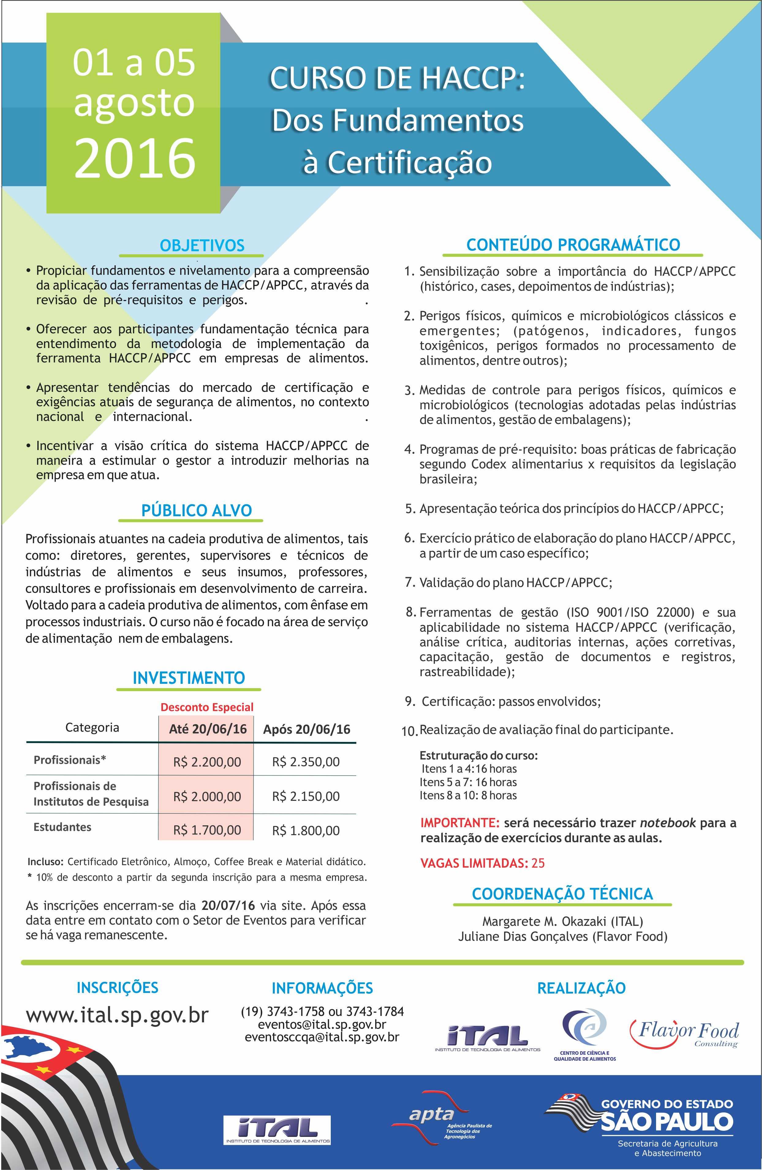 featured image HACCP – dos fundamentos à certificação em sua oitava edição