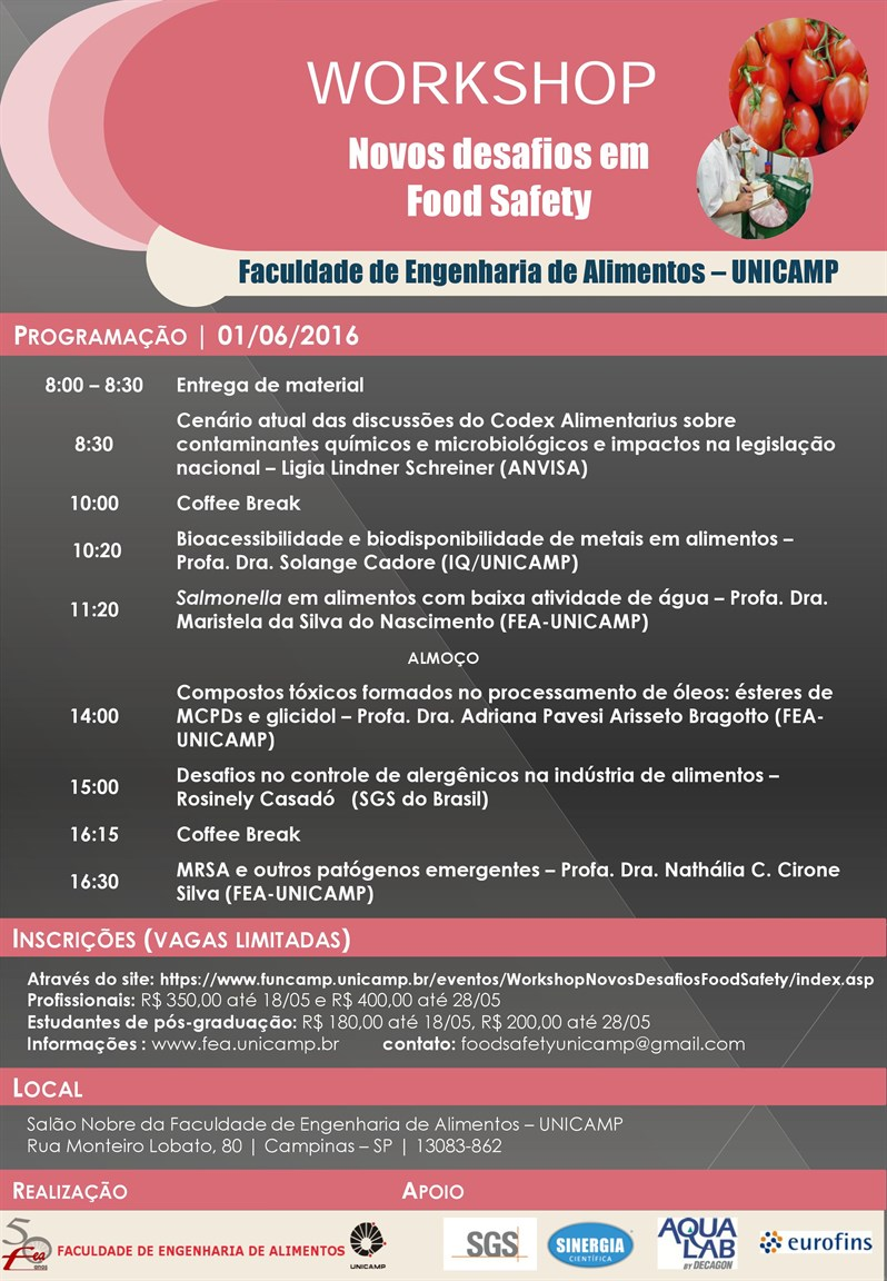 featured image Workshop: Novos Desafios em Food Safety | UNICAMP