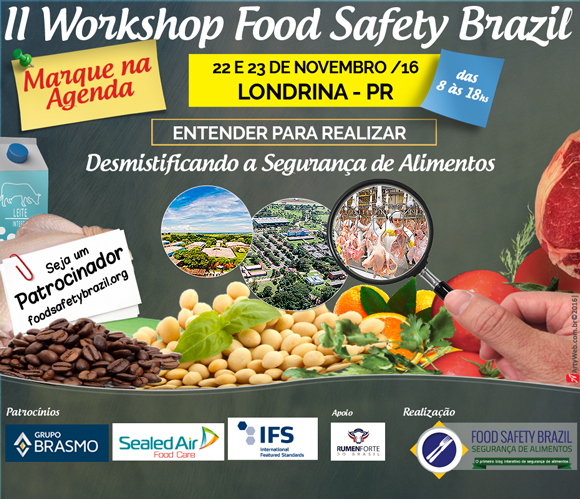 featured image Concurso Cultural II Workshop Food Safety Brazil | Londrina – PR