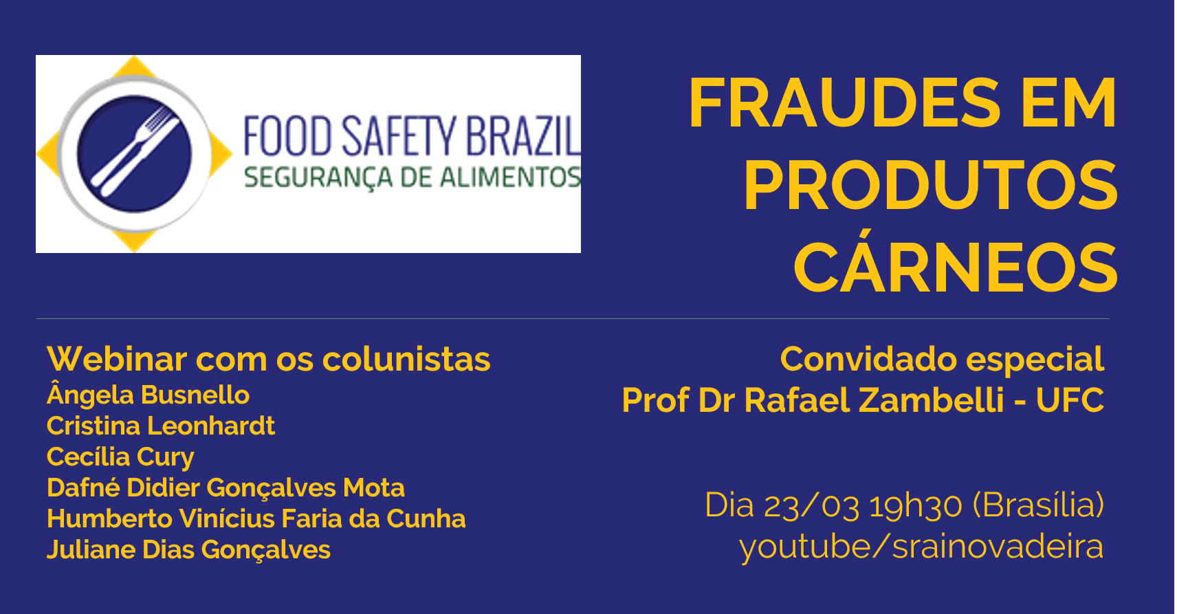 featured image Webinar sobre fraudes em carnes dia 23/03 no Food Safety Brazil