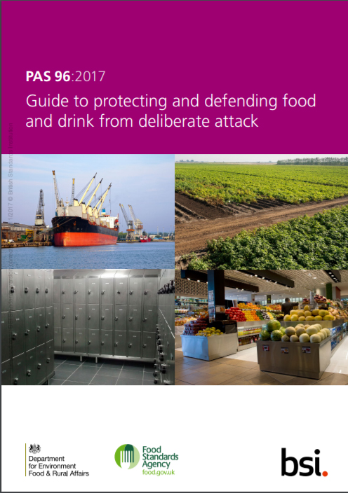 featured image Lançada a versão 2017 do Guia PAS 96, que trata de Food Defense