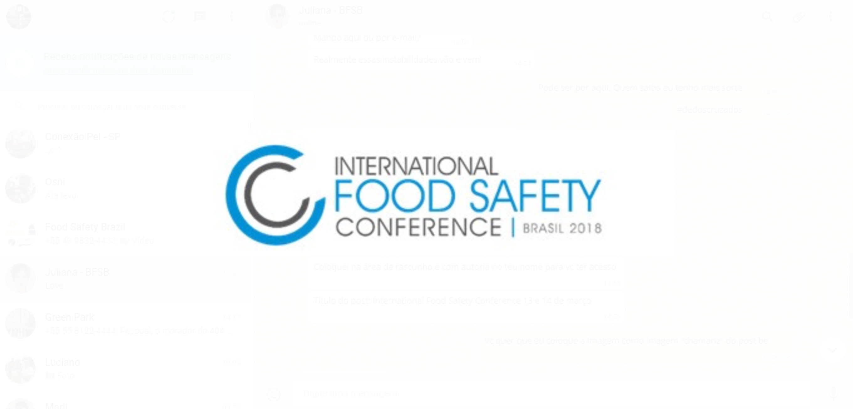 featured image International Food Safety Conference 13 e 14 de março